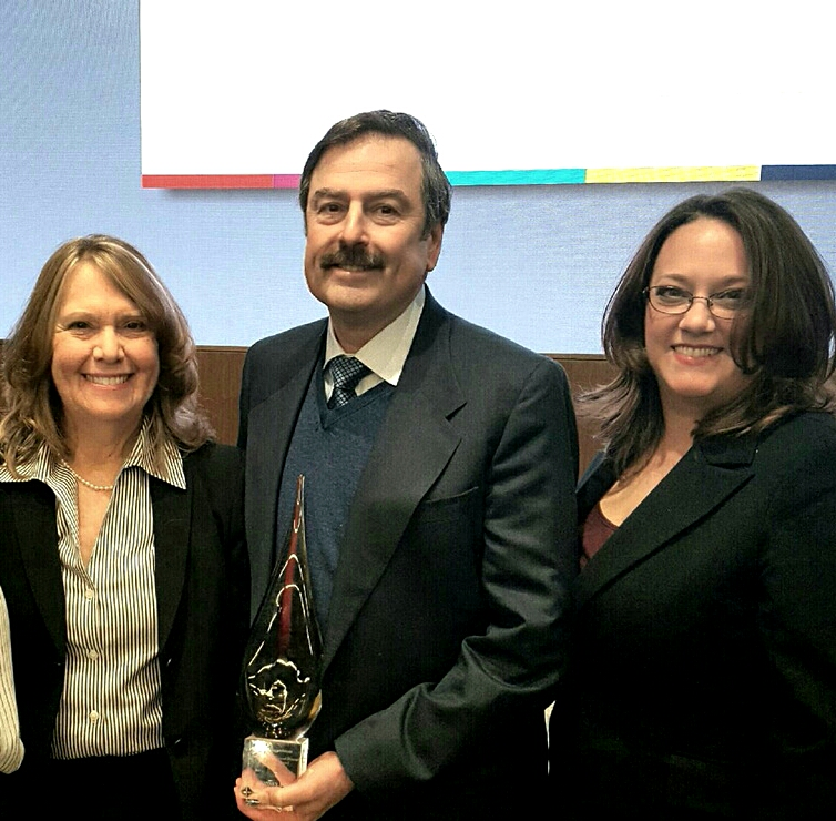 "Rachel Rosen, M. H. ""Butch"" Cersonsky and Marianne Robak Receiving Award"